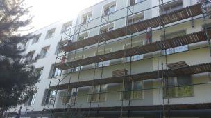 Elewacje, Rusztowania i Ocieplenia kolejnego bloku firmy budowlanej Spec Bud A. Teclaf Trójmiasto Pomorskie